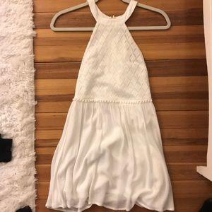 White halter dress